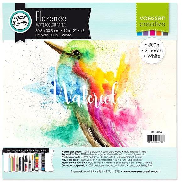 Florence Florence Aquarel papier 30.5x30.5 wit smooth 300gr