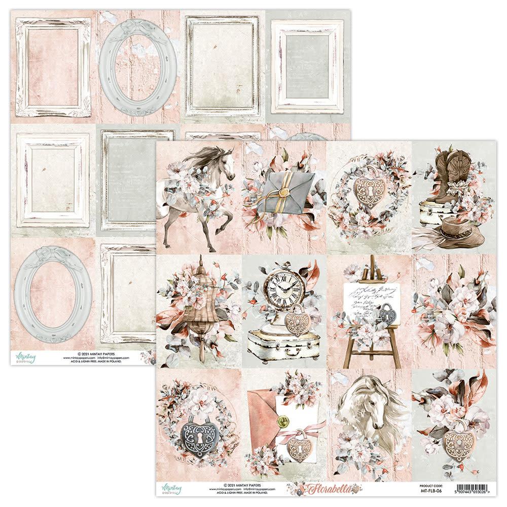 Mintay Knipvel 30.5x30.5 Flora bella achterkant met lijsten