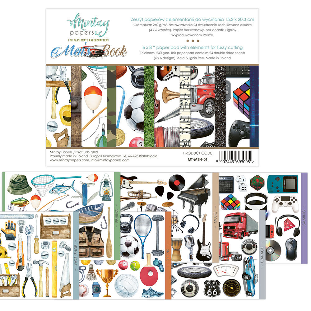Mintay Paperpad 15.2x20.3 Mens book