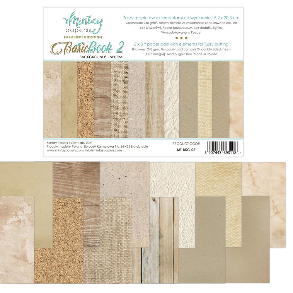 Mintay Paperpad 15.2x20.3 backgrounds neutral book