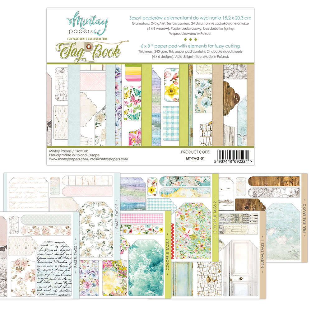Mintay Paperpad 15.2x20.3 Tag book