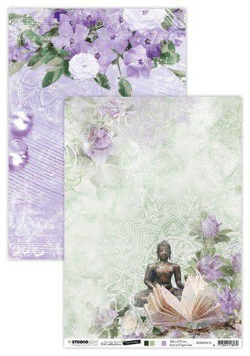 Studio Light Studio Light Basis A4 Achtergrondpapier Jenine's Mindful Art 5.0 nr.12