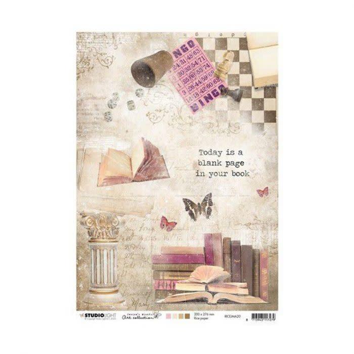Studio Light Studio Light Rice Paper A4 vel Jenine's Mindful Art 3.0 nr.20