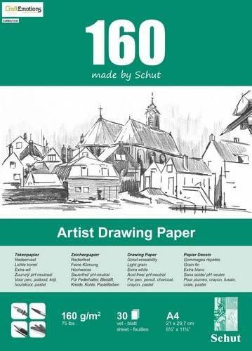 Schut Schut Artist Drawing Paper  160 gram  A4 bloc a 30 vel