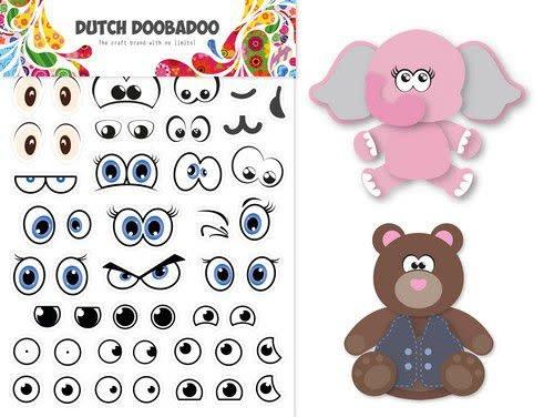 Dutch Doobadoo Dutch Doobadoo Dutch Sticker Art A5 Ogen