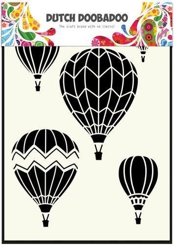Dutch Doobadoo Dutch Doobadoo Dutch Mask Art stencil Luchtballonnen multi A5