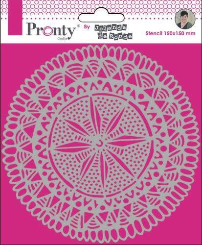 Pronty Pronty Mask Mandala Circle Tribal by Jolanda 15x15