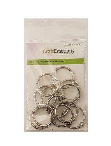 CraftEmotions CraftEmotions Klik ringen / boekbindersringen 32mm 12 st.