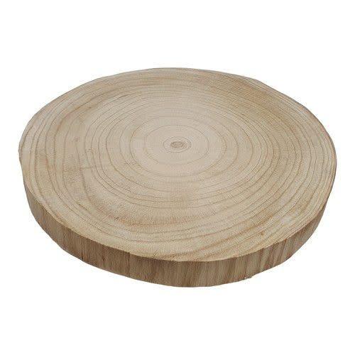CraftEmotions Boomschorsschijf rond Paulownia diameter +- 30cm