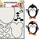 Dutch Doobadoo Dutch Doobadoo Card Art Built up Pinguin A5