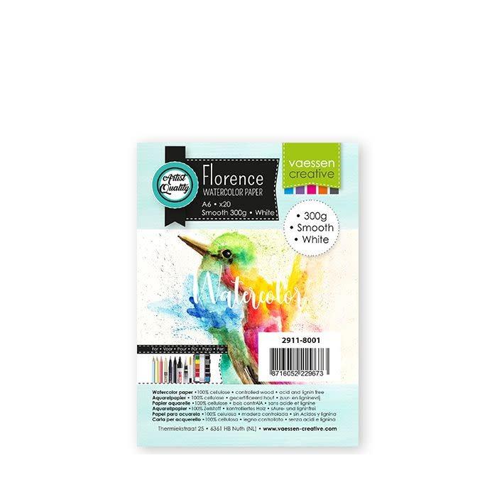 Florence Florence • Aquarelpapier smooth Wit 300g A6 20pcs