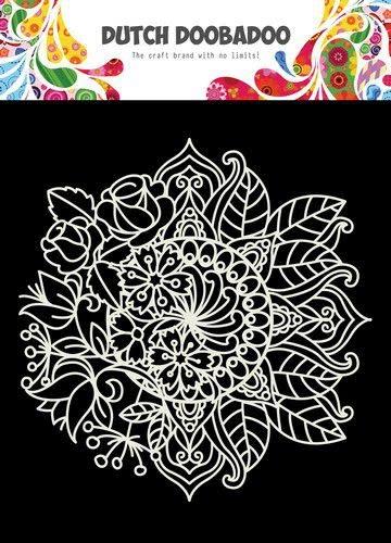 Dutch Doobadoo Dutch Doobadoo Mask Art 15x15cm Mandala met Bloem