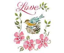 Stamperia Stencil A5 Birds Nest (KSD299)