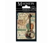 Stamperia Music Violin 8x5.5cm Magnet (EMAG009)