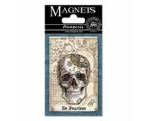 Stamperia Mechanical Fantasy Skull 8x5.5cm Magnet (EMAG001)
