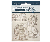 Stamperia Decorative Chips Welcome (SCB31)