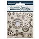 Stamperia Decorative Chips Clock and Corners (SCB37)