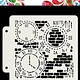 Dutch Doobadoo Dutch Doobadoo Dutch Mask Art Grunge Clock  163x148