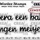 Crealies Crealies Clearstamp Wordzz Hoera een baby (NL)