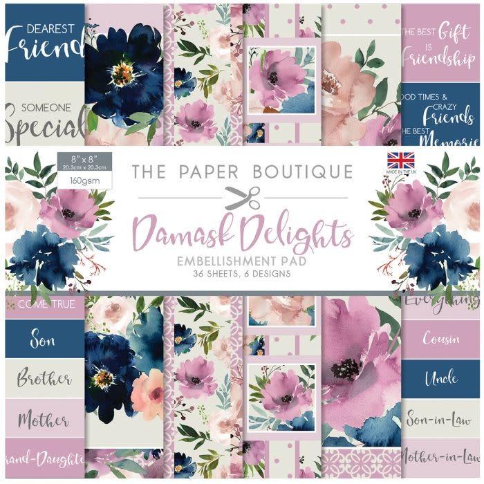 Paper boutique Paper Boutique • Damask delights embellishments pad
