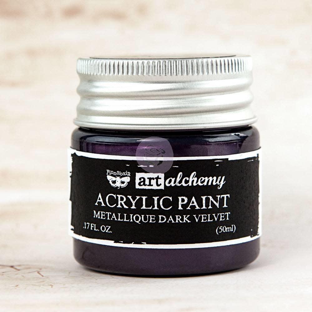 Finnabair Art Alchemy Acrylic Paint Metallique Dark Velvet (963125)