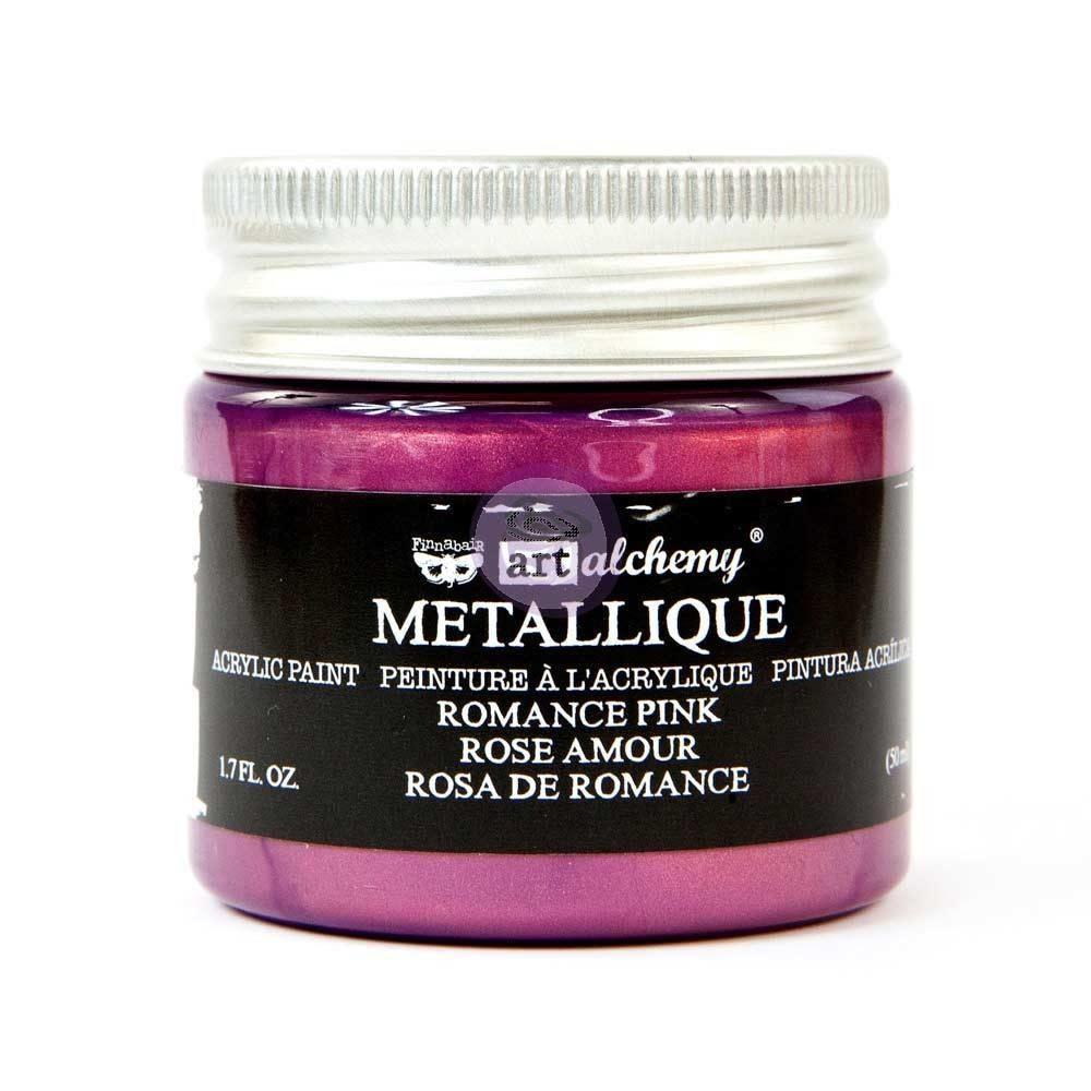 Finnabair Art Alchemy Acrylic Paint Metallique Romance Pink (965174)