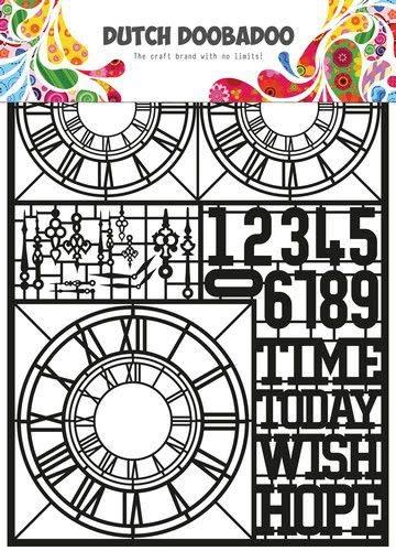 Dutch Doobadoo Dutch Doobadoo Dutch Paper Art Clocks A5