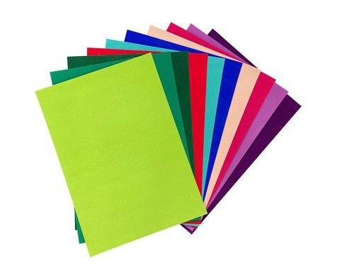 Joy!Crafts Joy! Crafts Fluweel Papier zelfklevend Felle kleuren 10vl