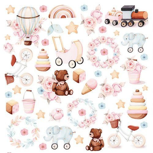 """Craft&You Craft&You Baby Toys sheet elements to cut out 12x12"""""""