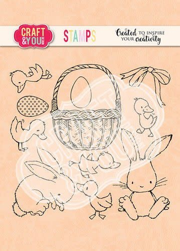 Craft&You Craft&You Clearstempel Pasen set 2