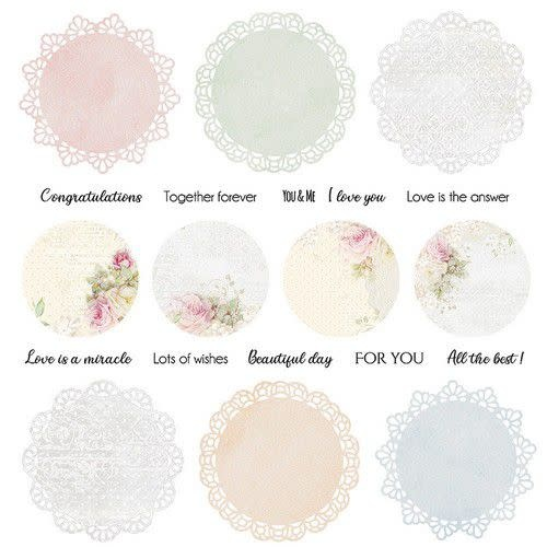 """Craft&You Craft&You Flower Romance sheet elements to cut out 12x12"""""""