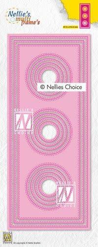 Nellie's choice Nellies Choice Multi Frame Die - Slimline cirkel