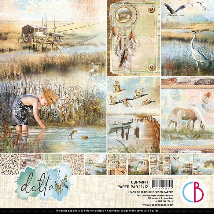 Ciao Bella Ciao Bella paperpad  Delta 30.5x30.5 CBPM041