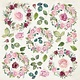 """Craft&You Craft&You Flower Vibes sheet elements to cut out 12x12"""""""