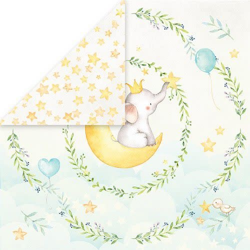 """Craft&You Craft&You Baby Adventure Scrapbooking single paper 12x12"""""""