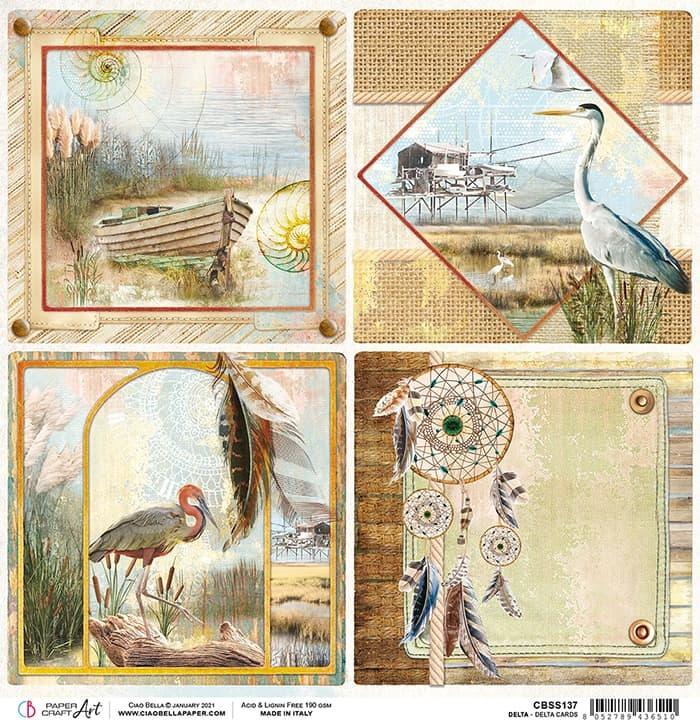 Ciao Bella Ciao Bella Delta cards paper sheet 30.5x30.5 CBSS137