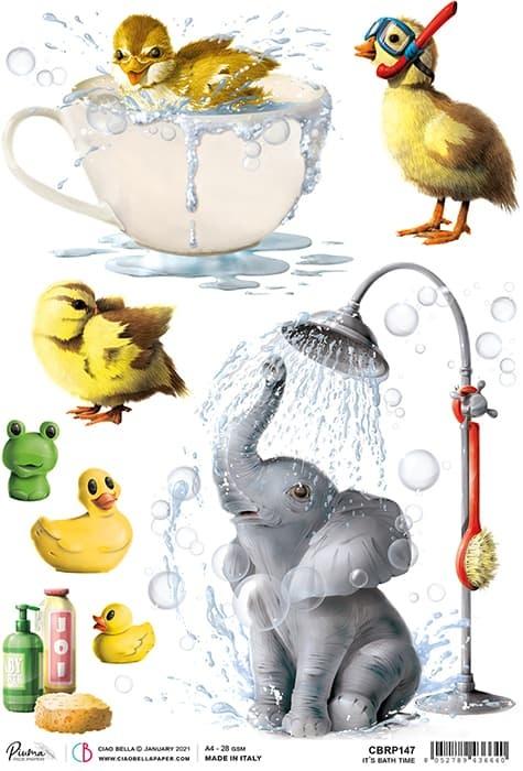 Ciao Bella Ciao Bella Rice paper it's bath time CBRP147