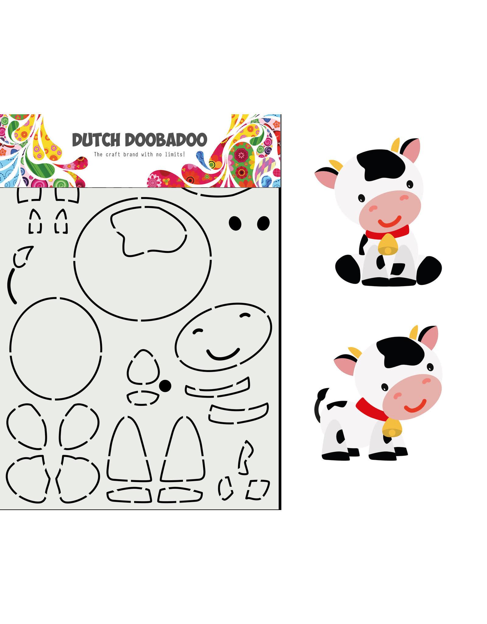 Dutch Doobadoo Dutch Doobadoo card art built up Koe