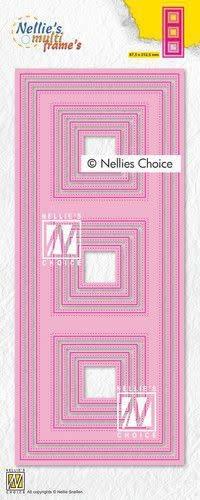Nellie's choice Nellies Choice Multi Frame Die - Slimline vierkant