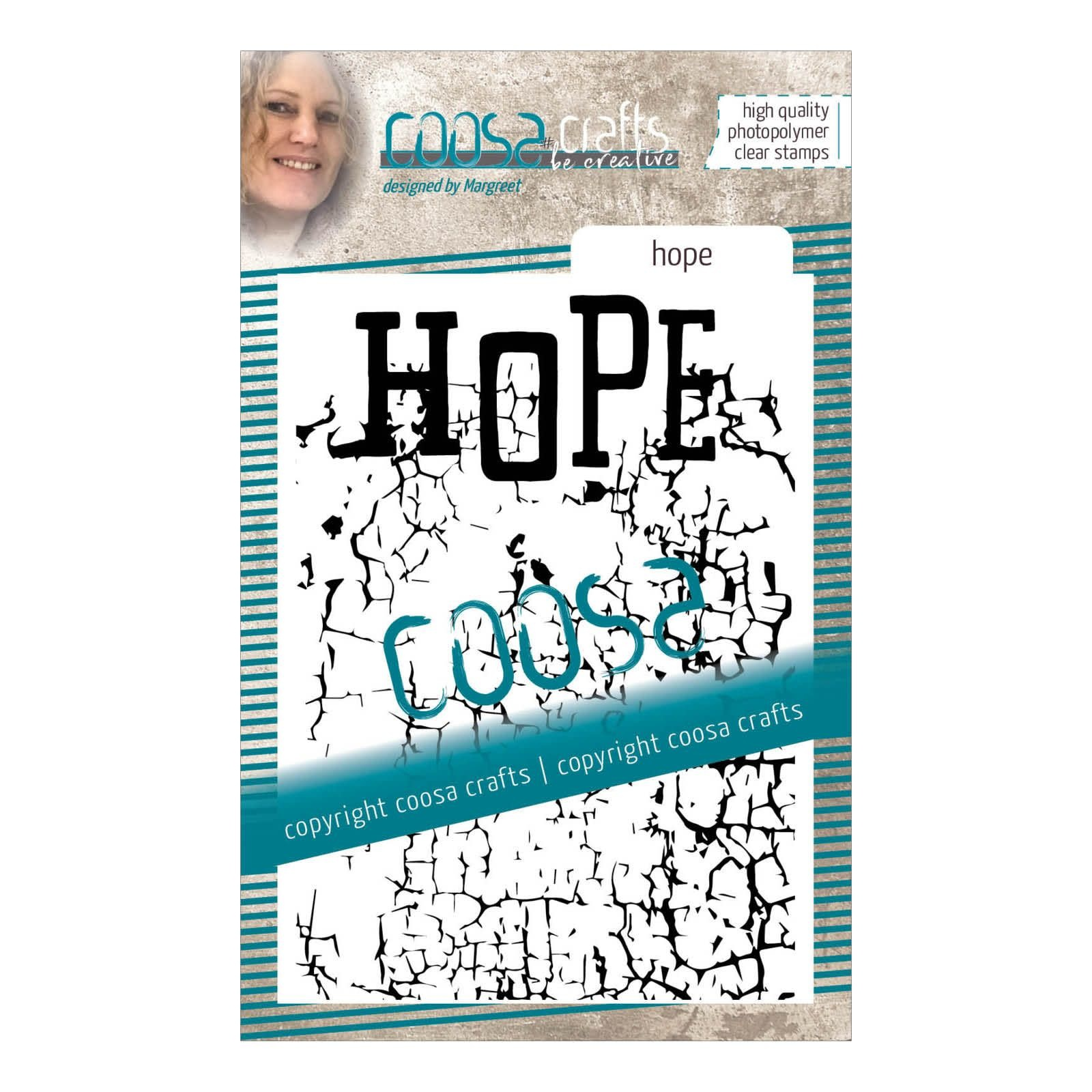 Coosa Coosa Clear stempel #16 achtergrond Hope