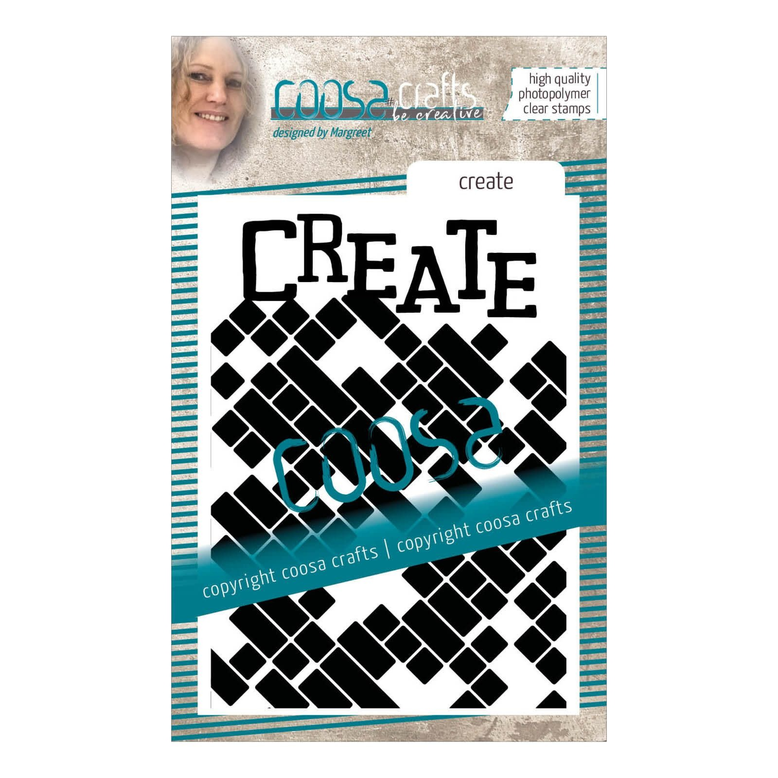 Coosa Coosa Clear stempel #14 achtergrond Create