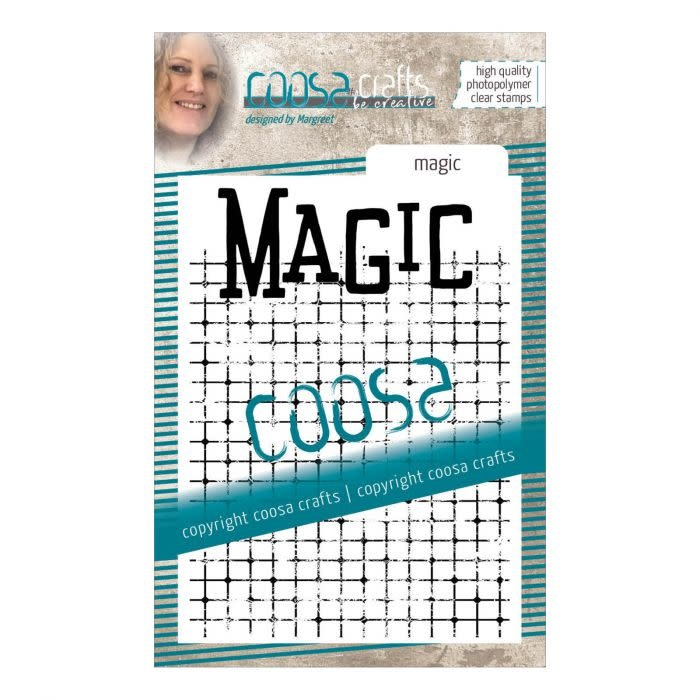 Coosa Coosa Clear stempel #14 achtergrond Magic
