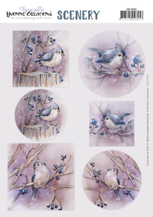 Yvonne creations Scenery - Yvonne Creations - Aquarella - Birds