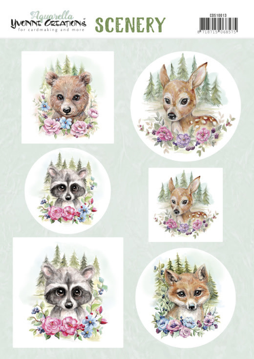 Yvonne creations Scenery - Yvonne Creations Aquarella - forest animals