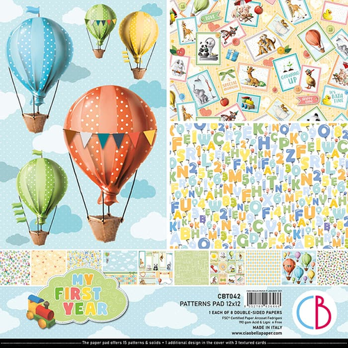 Ciao Bella Ciao Bella Papercrafting My First Year 12x12 Inch Patterns Pad (CBT042)