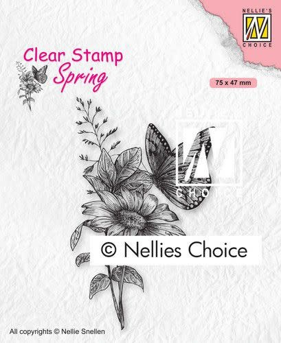 Nellie's choice Nellies Choice Clearstempel - Vlinders SPCS018