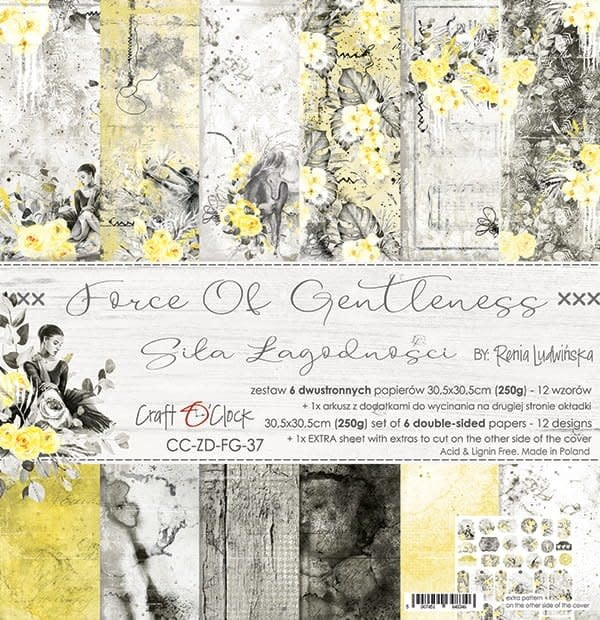 craftoclock FORCE OF GENTLENESS - a set of papers 30,5x30,5cm
