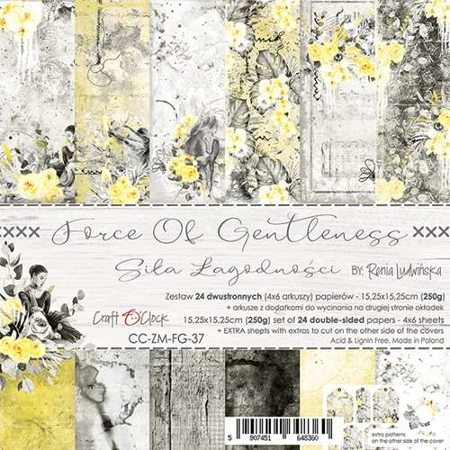craftoclock FORCE OF GENTLENESS - a set of papers 15,25x15,25cm
