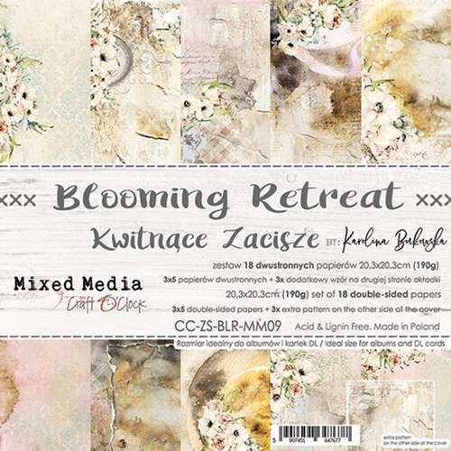 craftoclock BLOOMING RETREAT - a set of papers 20,3x20,3cm