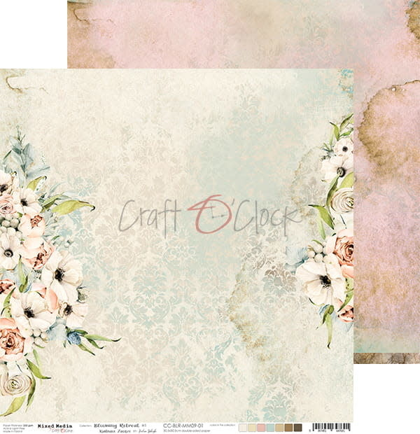 craftoclock BLOOMING RETREAT - 01 - a double-sided paper 30,5x30,5cm